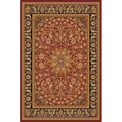 Marian Red/Gold Area Rug Rug Size: 33 x 53