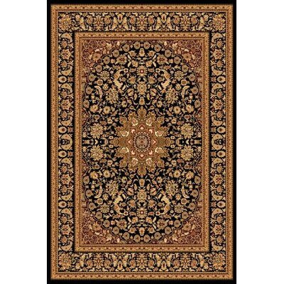 Marian Black/Gold Area Rug Rug Size: Runner 2 x 77