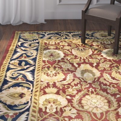 Balthrop Hand-Tufted Red/Blue Area Rug