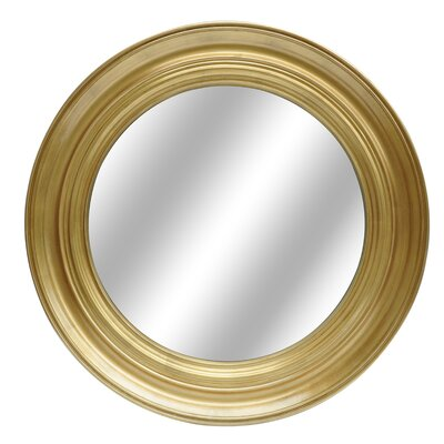 Round Yellow Wall Mirror