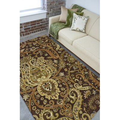Gant Chocolate Area Rug Rug Size: 8 x 11