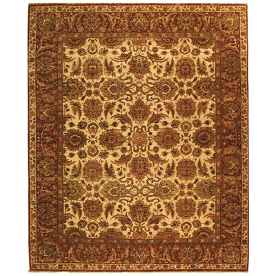 Belfield Ivory/Rust Area Rug Rug Size: Rectangle 5 x 76