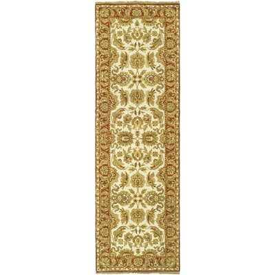 Belfield Ivory/Rust Area Rug Rug Size: Runner 26 x 12