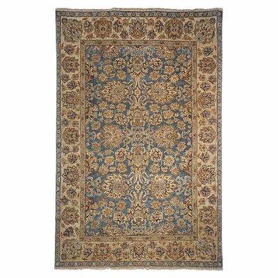 Belfield Kerman Blue/Gold Area Rug Rug Size: 4 x 6