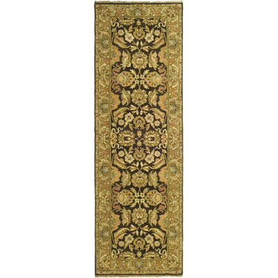 Belfield Dark Brown/Gold Area Rug Rug Size: Runner 2'6
