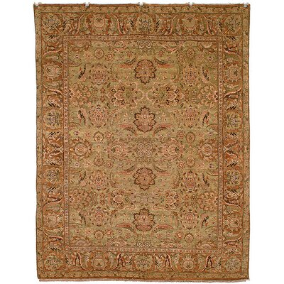 Belfield Light Green/Gold Area Rug Rug Size: 2 x 3