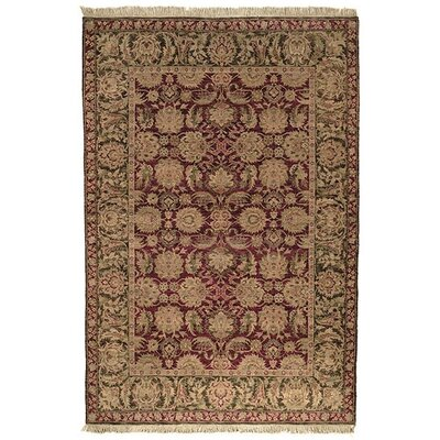 Belfield Agra Burgundy Area Rug Rug Size: Rectangle 10 x 14