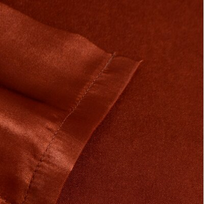 Bridget Satin Sheet Set Color: Copper, Size: King