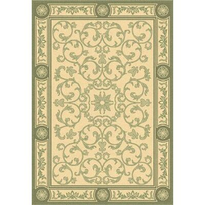 Carsen Natural/Olive Indoor/Outdoor Rug Rug Size: 67 x 96
