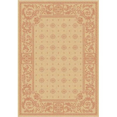 Carsen Natural/Terra Outdoor Area Rug Rug Size: 67 x 96