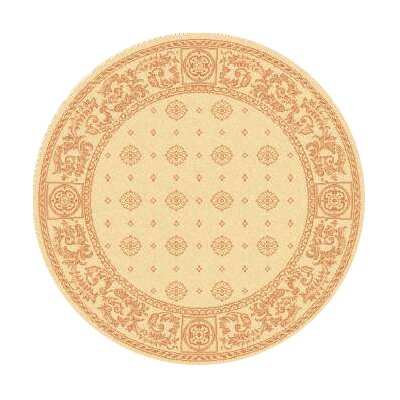 Carsen Natural/Terra Outdoor Area Rug Rug Size: Round 53