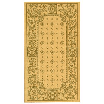 Carsen Natural/Olive Outdoor Rug Rug Size: 4 x 57
