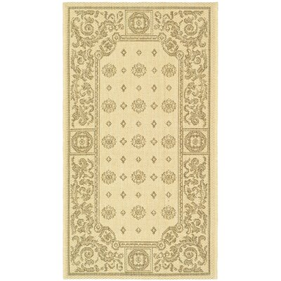 Carsen Natural/Brown Outdoor Rug Rug Size: 2' x 3'7
