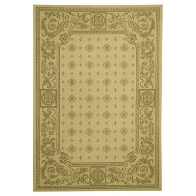Carsen Natural/Brown Outdoor Rug Rug Size: Rectangle 53 x 77
