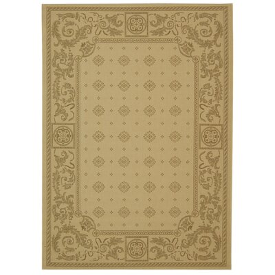 Carsen Natural/Brown Outdoor Rug Rug Size: Rectangle 4 x 57