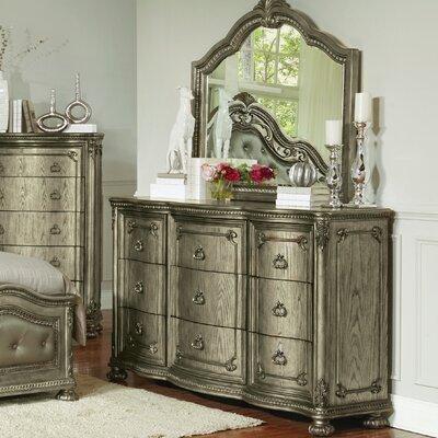 Liola 9 Drawer Dresser with Mirror