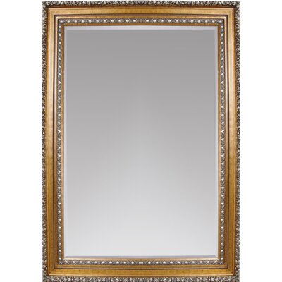 Rectangle Silver Leaf Wood Leaner Mirror