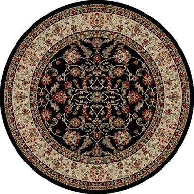 Tobiason Ebony Area Rug Rug Size: Round 8'