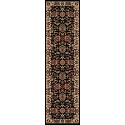 Wendra Black Area Rug Rug Size: Runner 2' x 8'