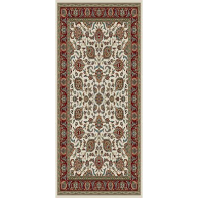 Wade Sand Beige/Red Area Rug Rug Size: 5 x 8