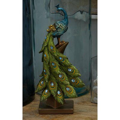 Peacock Table Décor Figurine