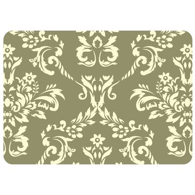Justina Damask Kitchen Mat Rug Size: 22 x 31, Color: Sage
