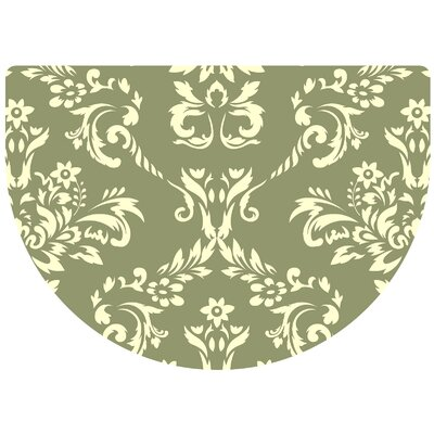 Justina Damask Kitchen Mat Color: Sage, Rug Size: 22