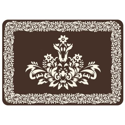 Justina Falcon Crest Border Kitchen Mat Color: Chocolate