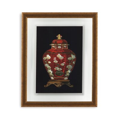 Red Porcelain Vase I Framed Painting Print
