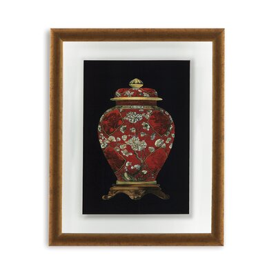 Red Porcelain Vase II Framed Painting Print