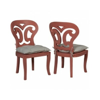 Britta Manor Solid Wood Dining Chair Color: Melon