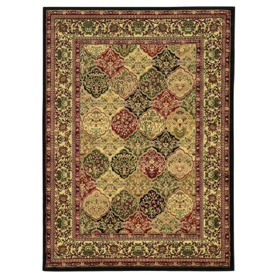 Ardella Red/Brown Area Rug Rug Size: 2 x 3