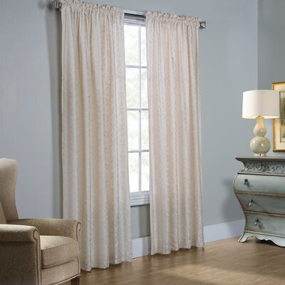 Renato Damask Semi-Sheer Thermal Rod Pocket Curtain Panels