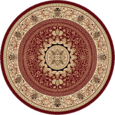 Clarence Red/Beige Area Rug Rug Size: Octagon 6