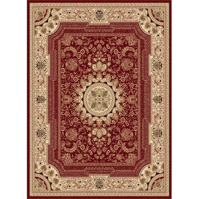 Clarence Red/Beige Area Rug Rug Size: Rectangle 7 x10