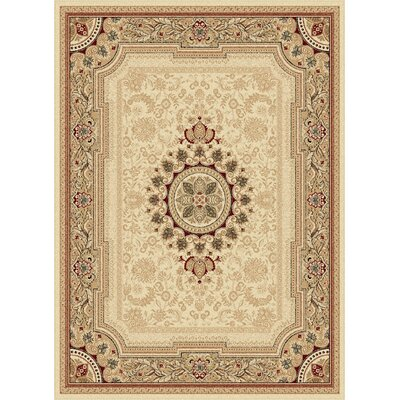 Clarence Beige/Tan Area Rug Rug Size: Rectangle 7 x10