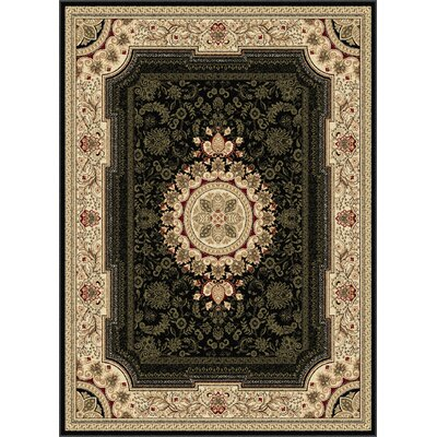 Clarence Black/Beige Area Rug Rug Size: Rectangle 7' x10'