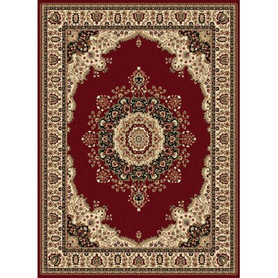 Clarence Red/Beige Area Rug Rug Size: Rectangle 7 x 10