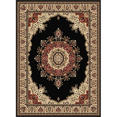 Clarence Beige/Black Area Rug Rug Size: Rectangle 7 x 10