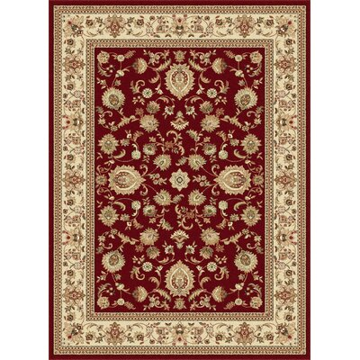 Clarence Beige/Red Area Rug Rug Size: Rectangle 2 x 3