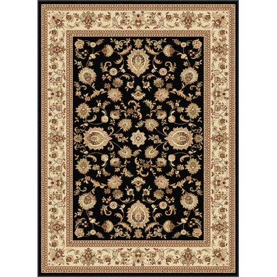 Clarence Black/Beige Area Rug Rug Size: Rectangle 8 x 11