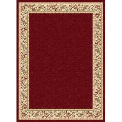 Clarence Red/Beige Area Rug Rug Size: Rectangle 2 x 3