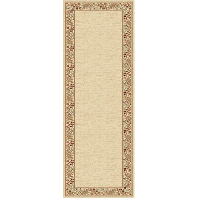 Clarence Beige Area Rug Rug Size: Runner 27 x 73
