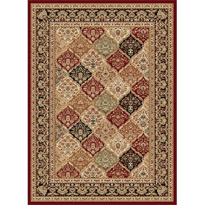 Clarence Red/Beige Area Rug Rug Size: Rectangle 7 x 10'