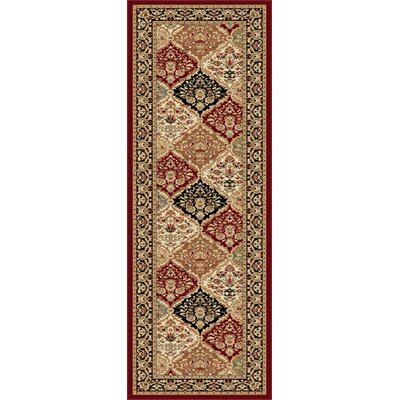 Clarence Red Area Rug Rug Size: Runner 2'7