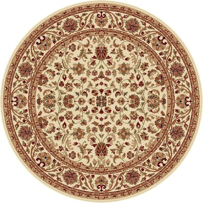 Clarence Beige Area Rug Rug Size: Round 6