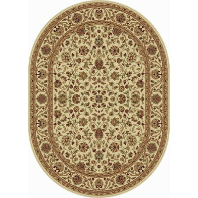 Clarence Beige Area Rug Rug Size: Oval 7 x 10