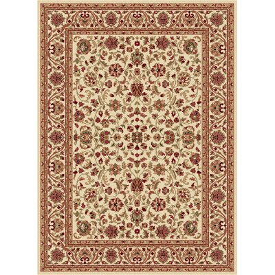 Clarence Beige Area Rug Rug Size: 67 x 96