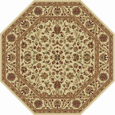 Clarence Beige Area Rug Rug Size: Octagon 8