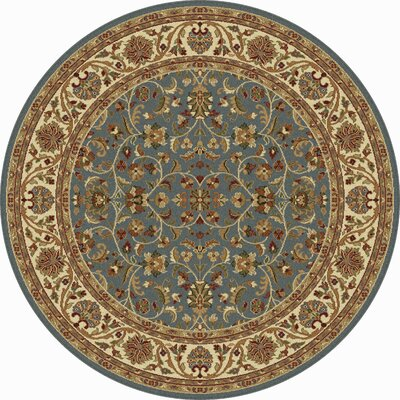 Clarence Blue Area Rug Rug Size: Round 6